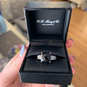 EFFY black onyx ring with diamonds